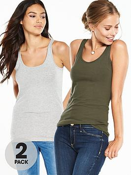 v-by-very-two-pack-longlinenbspcaminbspvest-tops