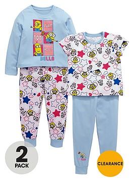 minions-girls-kevin-bob-and-stuart-pyjamas-2-pack