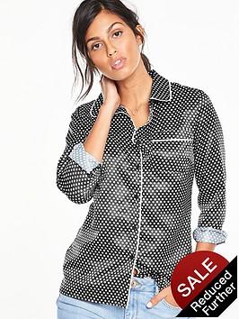 v-by-very-spot-print-pj-blouse