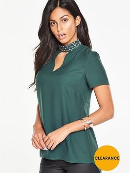 v-by-very-embellished-high-neck-blouse