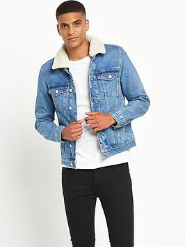 river-island-borg-collar-stonewashed-denim-jacket
