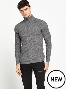 river-island-rib-roll-neck-jumper