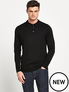 river-island-long-sleeve-knitted-polo