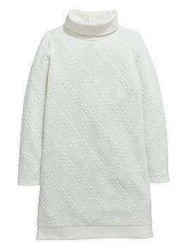 v-by-very-girls-bubble-jacquard-cable-knit-shift-dress