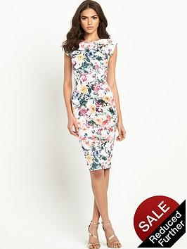 ax-paris-floral-print-cap-sleeve-midi-dressnbsp