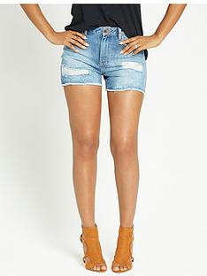 rochelle-humes-distressed-high-waisted-shortsnbsp