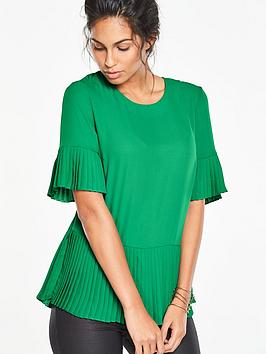v-by-very-pleated-sleeve-and-hem-blouse