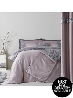 sequin-floral-lace-border-duvet-set-grey
