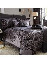 Jacquard Duvet Cover Set - Black