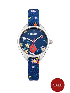 oasis-oasis-navy-floral-dial-floral-strap-ladies-watch