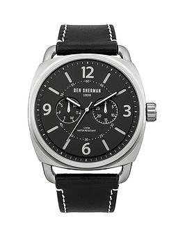 ben-sherman-ben-sherman-covent-multi-funcion-black-dial-black-leather-strap-mens-watch