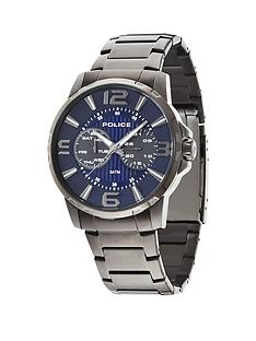 police-police-visionary-blue-dial-stainless-steel-bracelet-mens-watch
