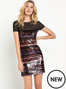 guess-mikay-sequin-stripe-dress