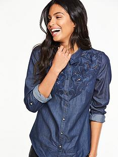 v-by-very-embroidered-yoke-denim-blouse