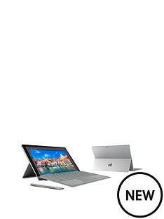 microsoft-surface-pro-4-intelreg-coretrade-i5-processor-4gb-ram-128gb-ssd-wi-fi-123-inch-alcantara-tablet-with-optional-microsoft-office-grey