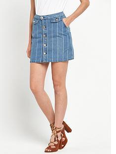 v-by-very-pintstripe-denim-mini-skirt