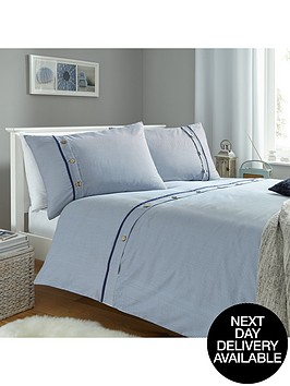 buttoned-stripes-duvet-set-blue