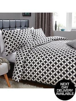 geometric-circles-print-duvet-set-blackwhite