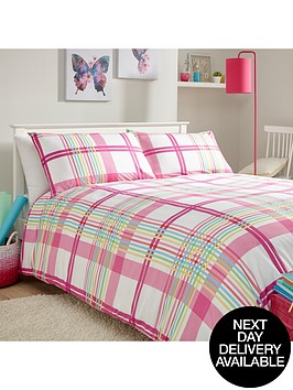plaid-print-duvet-set-multi