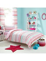 Hearts Stripe Duvet Set - Multi