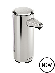 simplehuman-rechargeable-sensor-soap-pump-in-brushed-nickel-ndash-237ml-capacity