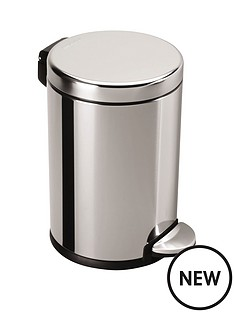simplehuman-45-litre-polished-stainless-steel-pedal-bin