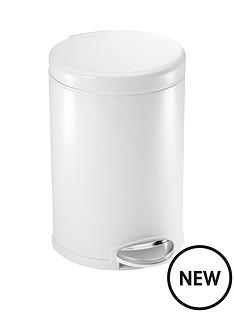 simplehuman-45-litre-white-steel-pedal-bin