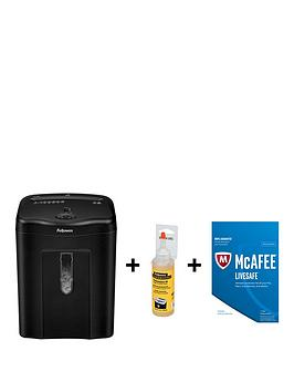 Fellowes Powershred 11C Cross Cut Shredder For Home Use With Free Shredder Performance Oil And Mcafee Livesafe 2017 Security.