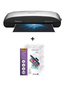 Fellowes   Spectra A4/95 Laminator With Free 25-Pack A4 Laminating Pouch