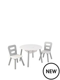 kidkraft-round-table-amp-chair-set-grey