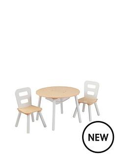 kidkraft-round-table-amp-chair-set-natural