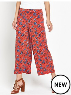 v-by-very-jersey-culottes-orange-ditsy-floral-print
