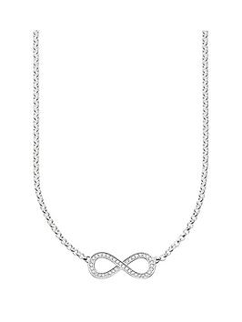 thomas-sabo-sterling-silver-cubic-zirconia-infinity-necklace-42cm