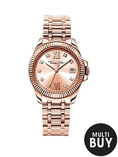 thomas-sabo-divine-rose-tone-dial-stainless-steel-rose-tone-bracelet-ladies-watchnbspplus-free-diamond-bracelet