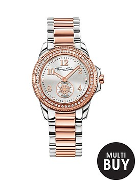 thomas-sabo-glam-chic-silver-dial-silver-amp-rose-two-tone-stainless-steel-bracelet-ladies-watchnbspplus-free-diamond-bracelet