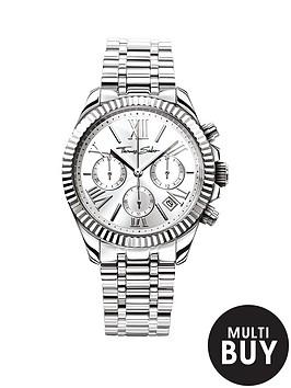 thomas-sabo-divine-silver-tone-dial-chronograph-ladies-watchnbspplus-free-diamond-bracelet