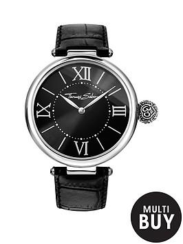 thomas-sabo-karma-black-dial-black-leather-strap-ladies-watchnbspplus-free-diamond-bracelet
