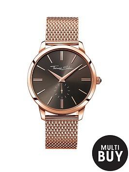 thomas-sabo-eternal-rebel-rose-tone-mesh-bracelet-mens-watchnbspplus-free-diamond-bracelet