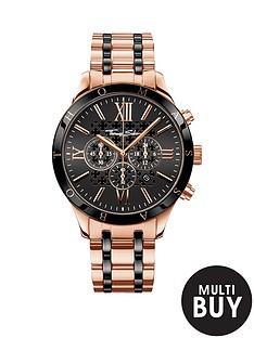 thomas-sabo-rebel-urban-chronograph-stainless-steel-rose-tonenbspmens-watchnbspplus-free-karma-bead-bracelet
