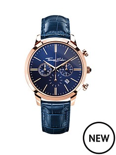 thomas-sabo-eternal-rebel-blue-dial-chronograph-rose-tone-mens-watch