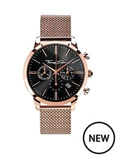 thomas-sabo-eternal-rebel-chornograph-rosenbsptone-stainless-steel-mesh-bracelet-watch