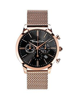 thomas-sabo-eternal-rebel-chronograph-rosenbsptone-stainless-steel-mesh-bracelet-watch