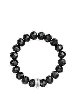 Thomas Sabo Charm Club Black Obsidian Stone Bracelet