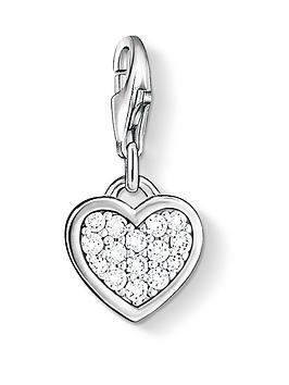 Thomas Sabo Charm Club Zirconia Pav&Eacute Heart Charm