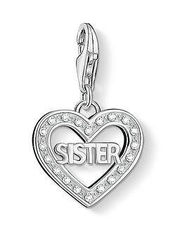 Thomas Sabo  Sterling Silver Cubic Zirconia Charm Club Sister Charm