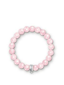 Thomas Sabo Charm Club Rose Quartz Stone Bracelet