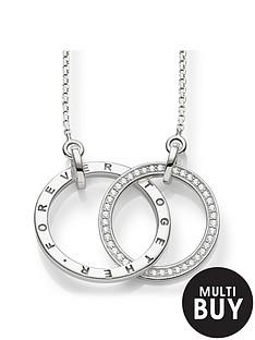 thomas-sabo-together-forever-medium-size-intertwined-rings-necklace-55cmnbspplus-free-karma-bead-bracelet