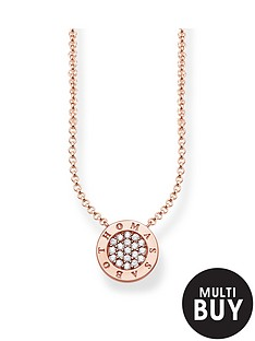 thomas-sabo-classic-logo-pendant-necklace-in-rose-gold