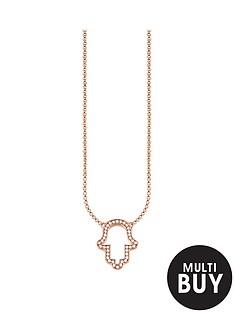 thomas-sabo-hand-of-fatima-necklace-in-rose-goldnbspplus-free-karma-bead-bracelet