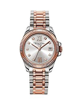 thomas-sabo-divine-silver-tone-dial-two-tone-stainless-steel-silver-amp-rose-tone-bracelet-ladies-watchnbsp